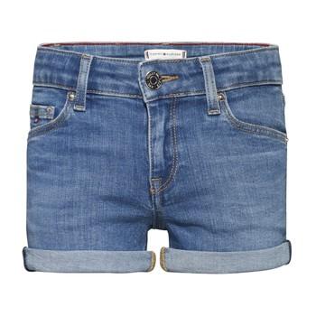Oblačila Deklice Kratke hlače & Bermuda Tommy Hilfiger KG0KG05773-1A4 Modra