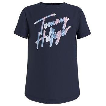 Oblačila Deklice Majice s kratkimi rokavi Tommy Hilfiger KG0KG05870-C87 Modra