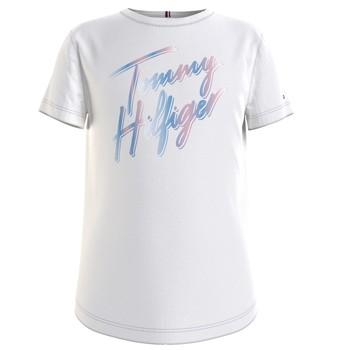 Oblačila Deklice Majice s kratkimi rokavi Tommy Hilfiger KG0KG05870-YBR Bela