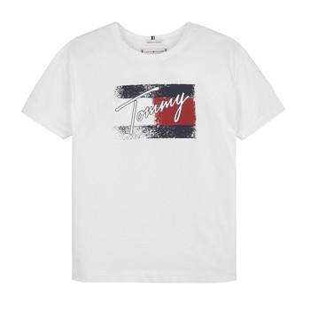 Oblačila Deklice Majice s kratkimi rokavi Tommy Hilfiger MONCHE Bela