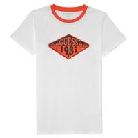 Oblačila Dečki Majice s kratkimi rokavi Guess L1GI09-K8HM0-TWHT Bela