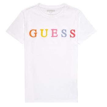 Oblačila Deklice Majice s kratkimi rokavi Guess H1RJ04-K8HM0-TWHT Bela