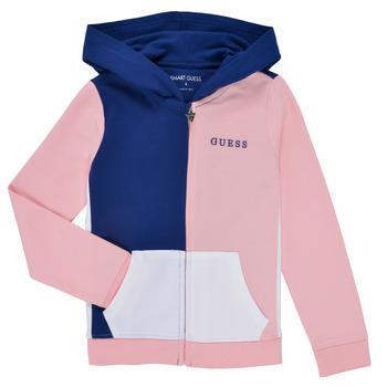 Oblačila Deklice Puloverji Guess K1RQ00-KA6R0-F672 Bela / Rožnata