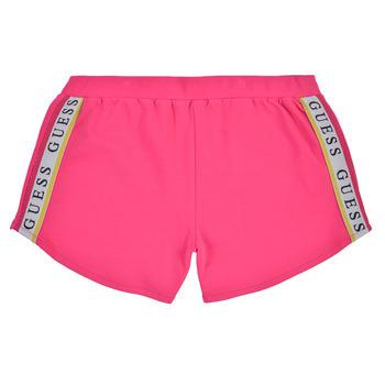 Oblačila Deklice Kratke hlače & Bermuda Guess J1GD12-KAE20-JLPK Rožnata