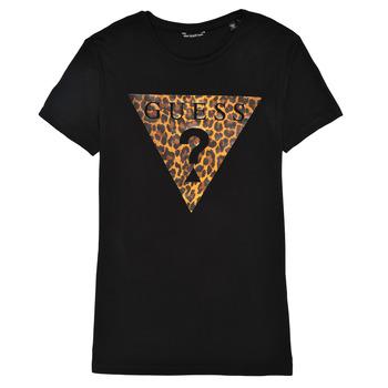 Oblačila Deklice Majice s kratkimi rokavi Guess J1RI27-K9MV0-P954 Črna