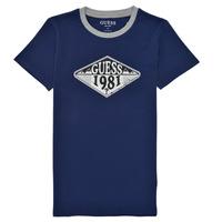 Oblačila Dečki Majice s kratkimi rokavi Guess L1GI09-K8HM0-DEKB Modra