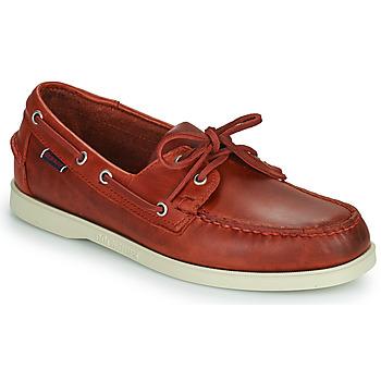 Čevlji  Moški Mokasini & Jadralni čevlji Sebago PORTLAND WAXED Rdeča