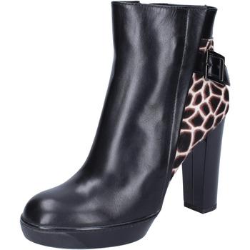 Čevlji  Ženske Gležnjarji Hogan Gležnarji BK643 Črna