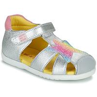 Čevlji  Deklice Sandali & Odprti čevlji Agatha Ruiz de la Prada HAPPY Srebrna
