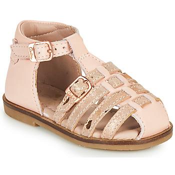 Čevlji  Deklice Sandali & Odprti čevlji Aster NINI Rožnata