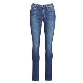 Oblačila Ženske Jeans straight Le Temps des Cerises PULP HIGHREG Modra / Svetla
