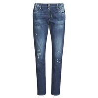 Oblačila Ženske Jeans boyfriend Le Temps des Cerises 200/43 LIOR Modra