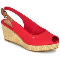 Čevlji  Ženske Sandali & Odprti čevlji Tommy Hilfiger ICONIC ELBA SLING BACK WEDGE Oranžna