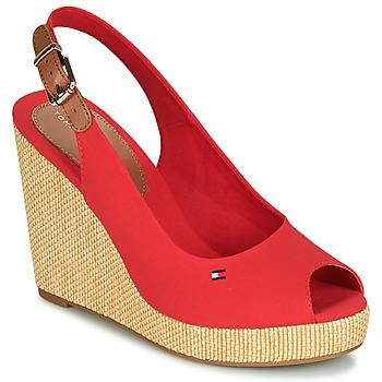 Čevlji  Ženske Sandali & Odprti čevlji Tommy Hilfiger ICONIC ELENA SLING BACK WEDGE Oranžna