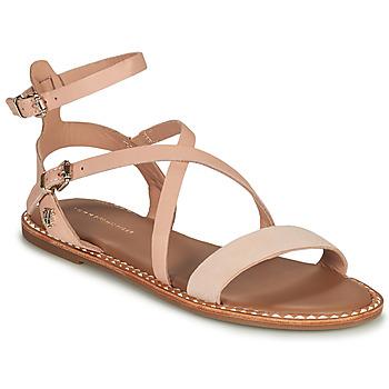Čevlji  Ženske Sandali & Odprti čevlji Tommy Hilfiger ESSENTIAL TOMMY FLAT SANDAL Cognac