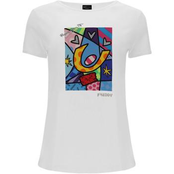 Oblačila Ženske Majice & Polo majice Freddy F0WBRT1 Biely