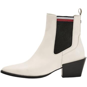 Čevlji  Ženske Gležnjarji Tommy Hilfiger FW0FW05166 Biely