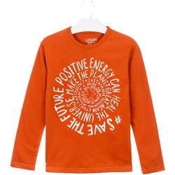 Oblačila Otroci Majice & Polo majice Losan 023-1013AL Oranžna