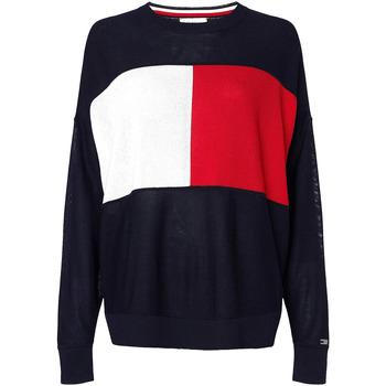Oblačila Ženske Puloverji Tommy Hilfiger WW0WW28582 Modra