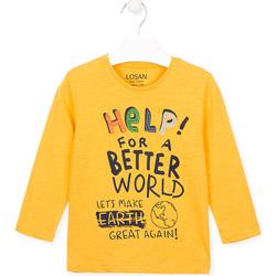 Oblačila Otroci Majice & Polo majice Losan 025-1005AL Rumena