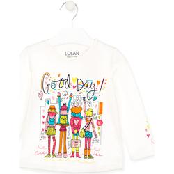 Oblačila Otroci Majice & Polo majice Losan 026-1003AL Biely