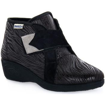 Čevlji  Ženske Visoke superge Emanuela 2302 VOX NERO Nero