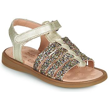 Čevlji  Deklice Sandali & Odprti čevlji Acebo's 5498GE-PLATINO-J Pozlačena