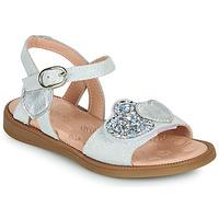 Čevlji  Deklice Sandali & Odprti čevlji Acebo's 5500SU-BLANCO Bela / Srebrna