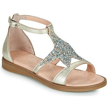 Čevlji  Deklice Sandali & Odprti čevlji Acebo's 9895GE-PLATINO-J Pozlačena