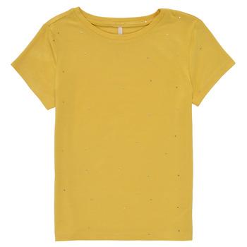 Oblačila Deklice Majice s kratkimi rokavi Only KONMOULINS Rumena