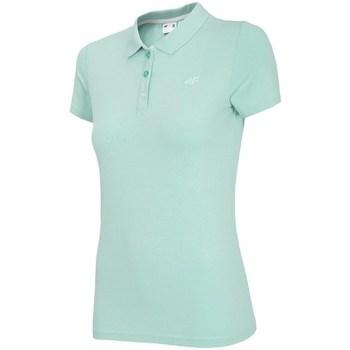 Oblačila Ženske Polo majice kratki rokavi 4F TSD008 Zelena