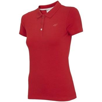 Oblačila Ženske Polo majice kratki rokavi 4F TSD008 Rdeča