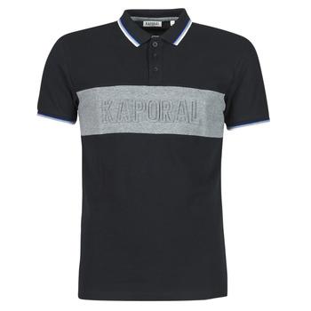 Oblačila Moški Polo majice kratki rokavi Kaporal DIAM Črna