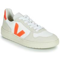 Čevlji  Nizke superge Veja V-10 Bela / Oranžna