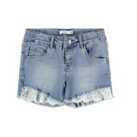 Oblačila Deklice Kratke hlače & Bermuda Name it NKFSALLI Modra