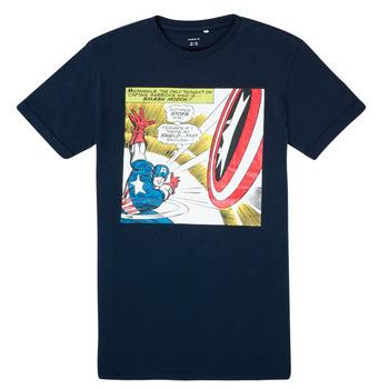 Oblačila Dečki Majice s kratkimi rokavi Name it MARVEL Modra