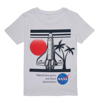 Oblačila Dečki Majice s kratkimi rokavi Name it NASA Bela