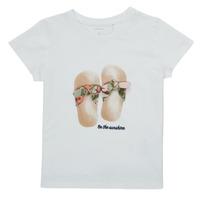 Oblačila Deklice Majice s kratkimi rokavi Name it NMFFISUMMER Bela
