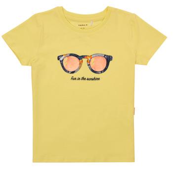 Oblačila Deklice Majice s kratkimi rokavi Name it NMFFISUMMER Rumena