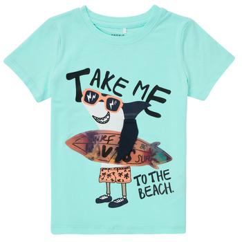 Oblačila Dečki Majice s kratkimi rokavi Name it NMMFANO Modra