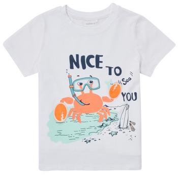 Oblačila Dečki Majice s kratkimi rokavi Name it NMMFANO Bela