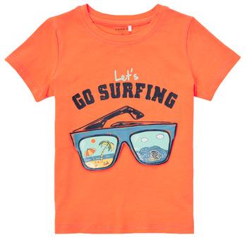 Oblačila Dečki Majice s kratkimi rokavi Name it NMMFANO Oranžna