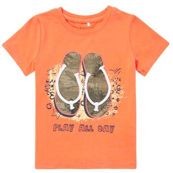 Oblačila Dečki Majice s kratkimi rokavi Name it NMMFASHO Oranžna
