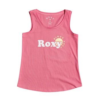 Oblačila Deklice Majice brez rokavov Roxy THERE IS LIFE FOIL Rožnata