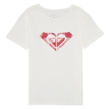 Oblačila Deklice Majice s kratkimi rokavi Roxy DAY AND NIGHT PRINT Bela