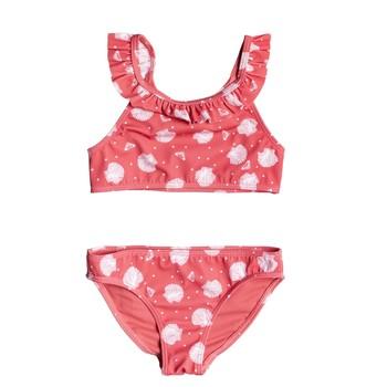 Oblačila Deklice Dvodelne kopalke Roxy TEENY EVERGLOW CROP TOP SET Rožnata