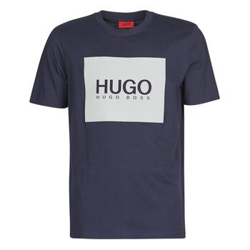 Oblačila Moški Majice s kratkimi rokavi HUGO DOLIVE Modra