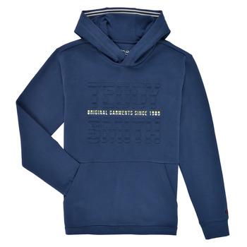 Oblačila Dečki Puloverji Teddy Smith S-RUN HOODY Modra