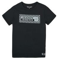 Oblačila Dečki Majice s kratkimi rokavi Teddy Smith T-VANY Črna
