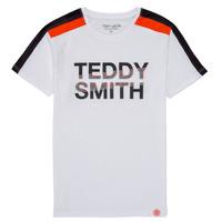 Oblačila Dečki Majice s kratkimi rokavi Teddy Smith T-MACK Bela